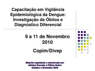 Material organizado e selecionado por Adriana Dourado e Fátima Guirra Outubro e Novembro 2010