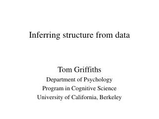 Inferring structure from data