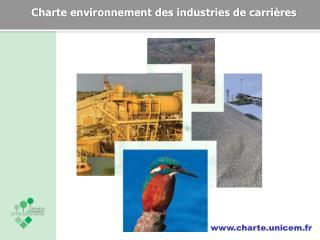 Charte environnement des industries de carrières