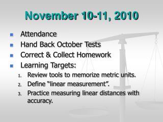 November 10-11, 2010