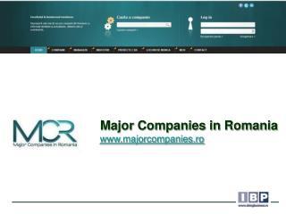 Major Companies in Romania majorcompanies.ro