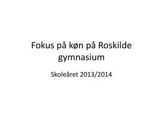 Fokus p� k�n p� Roskilde gymnasium
