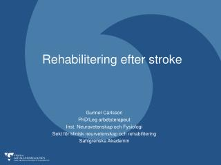 Rehabilitering efter stroke