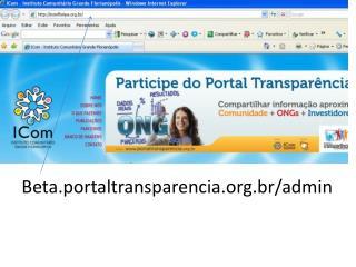 Beta.portaltransparencia. br / admin