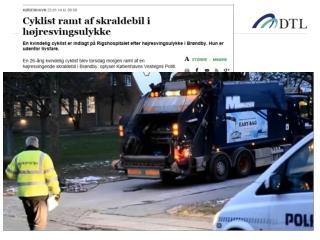 Ca.  300  mennesker kom til ALVORLIGT TIL SKADE  i højresvingsulykker  med person- og varebil!