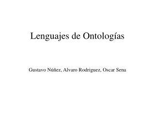 Lenguajes de Ontologías