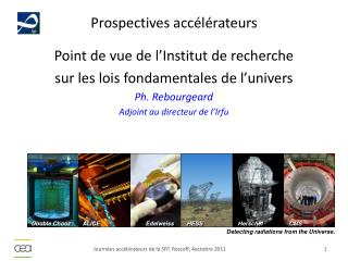 Prospectives acc�l�rateurs