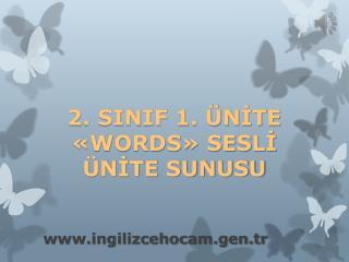2. SINIF 1. ÜNİTE «WORDS» SESLİ ÜNİTE SUNUSU