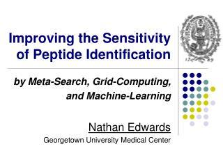 Improving the Sensitivity of Peptide Identification