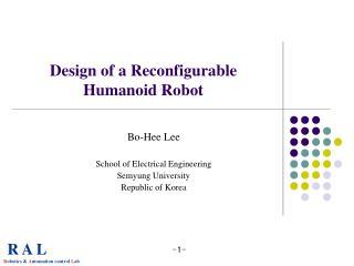 Design of a Reconfigurable Humanoid Robot