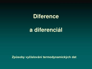 Diference a diferenciál