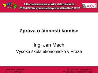 Zpráva o činnosti komise