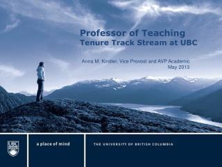 Professor of Teaching  Tenure Track Stream at UBC