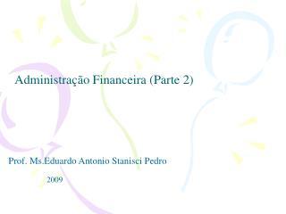 Administra  o Financeira Parte 2