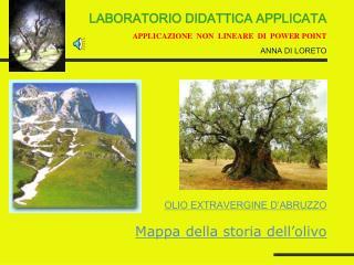 Mappa della storia dell'olivo