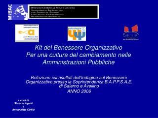 Kit del Benessere Organizzativo Per una cultura del cambiamento nelle  Amministrazioni Pubbliche