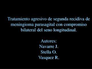 """Hospital """"José María Ramos Mejía"""" Servicio de Neurocirugía XIX Jornadas Interdisciplinarias"""