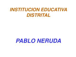 INSTITUCION EDUCATIVA DISTRITAL