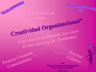 Creatividad Organizacional*