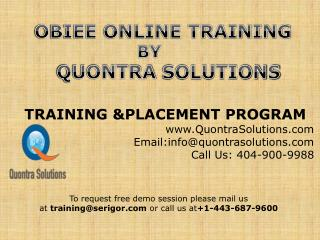 OBIEE Training PPT by Quontrasolutions