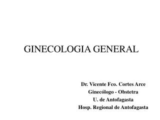 GINECOLOGIA GENERAL