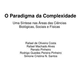 O Paradigma da Complexidade
