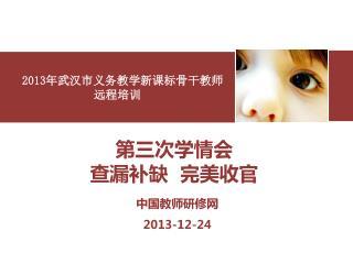 2013 年武汉市义务教学新课标骨干教师 远程培训