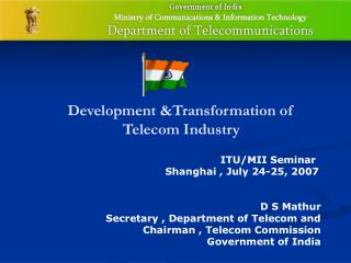 Development &Transformation of Telecom Industry