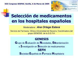 Selección de medicamentos en los hospitales españoles