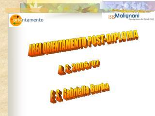 AREA ORIENTAMENTO POST-DIPLOMA