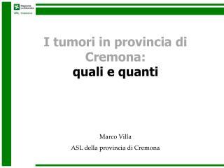 Marco Villa ASL della provincia di Cremona