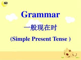 Grammar 一般现在时  ( Simple Present Tense )