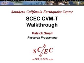 Southern California Earthquake Center SCEC CVM-T Walkthrough