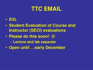 TTC EMAIL
