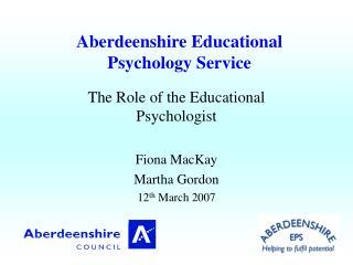 Aberdeenshire Educational Psychology Service