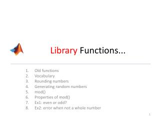 Library  Functions...
