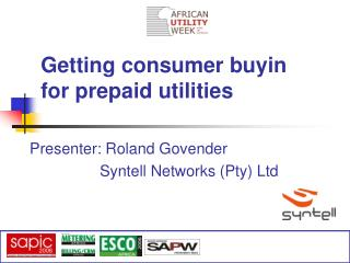 Getting consumer buyin  for prepaid utilities