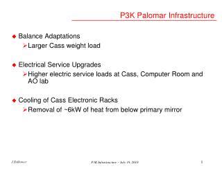 P3K Palomar Infrastructure