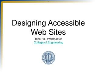 Designing Accessible Web Sites
