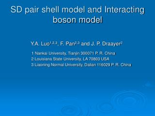 SD pair shell model and Interacting boson model