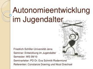 Autonomieentwicklung im Jugendalter