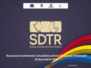 Reuniunea Comitetului Consultativ privind Coeziunea Teritorială 18 decembrie 2013