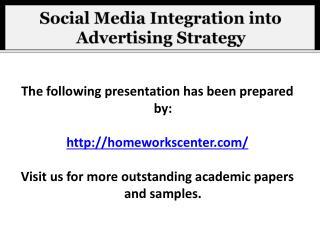Social Media Integration into Advertising Strategy