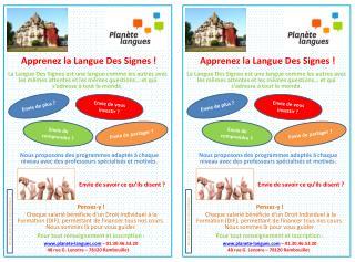 Apprenez la Langue Des Signes !