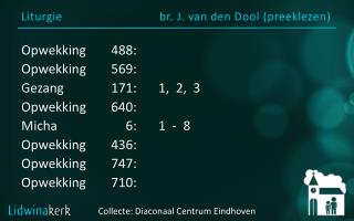 Liturgie br. J. van den Dool (preeklezen )