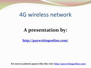 4G wireless network