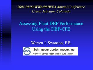 Assessing Plant DBP Performance Using the DBP-CPE
