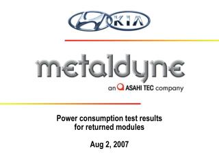 Power consumption test results for returned modules Aug 2, 2007