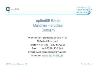 optimiSE Gmbh München – Bruchsal Germany