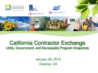California Contractor Exchange Utility, Government, and Municipality Program Snapshots